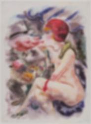 George Grosz / Aguarela e tinta em papel