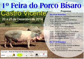 1.ª feira do porco bísaro em Castro Vicente
