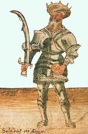 Saladino, rei do Egito | de um manuscrito do século XV