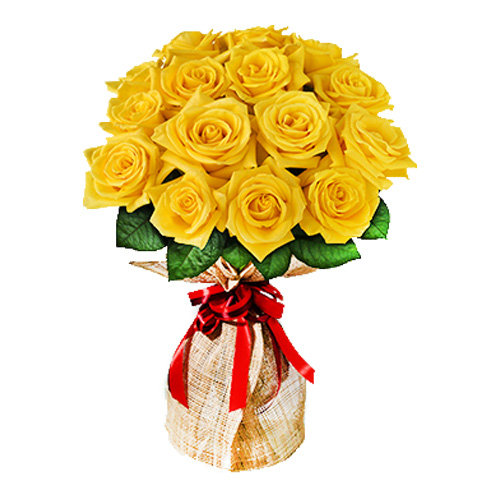 Sparkling Yellow Roses