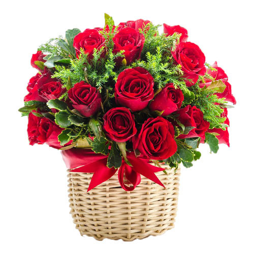 Winsome Roses Basket