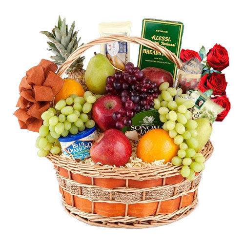 Fruits and Cheese Gift Basket