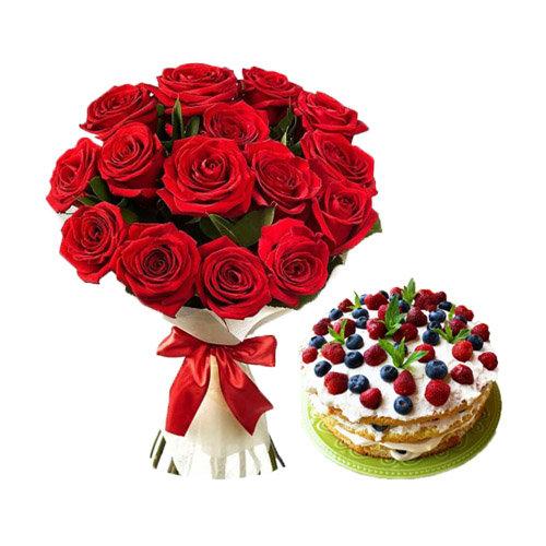 Breathtaking Berries Cake Combo