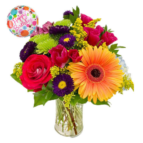 Flowers with Balloon