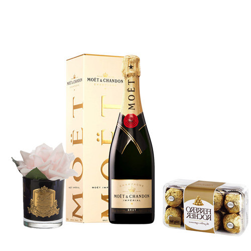 Rose And Moet Champagne