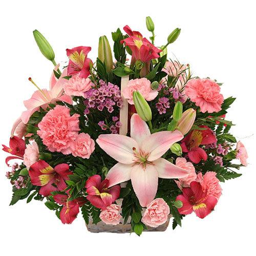 Heavenly basket of flowers