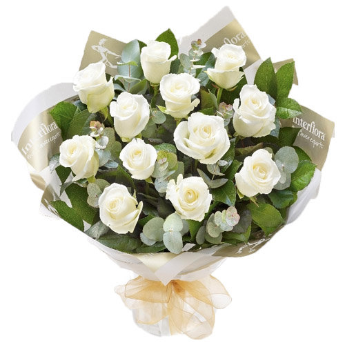 Blissful White Roses