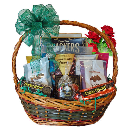Rose And Gourmet Gift Basket
