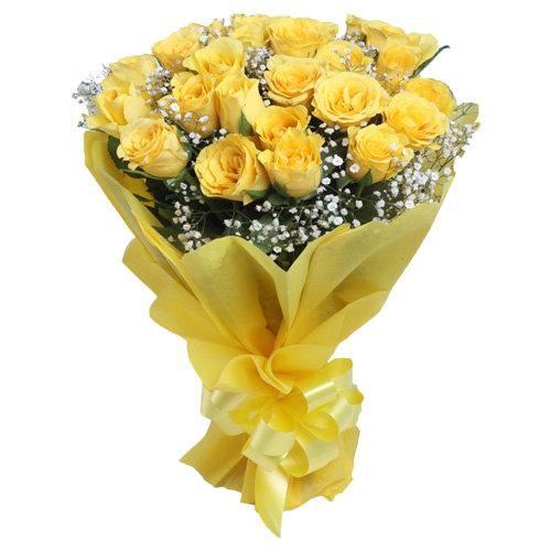 Shiny Yellow Roses