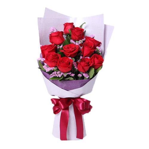 Wondrous Red Roses Bouquet