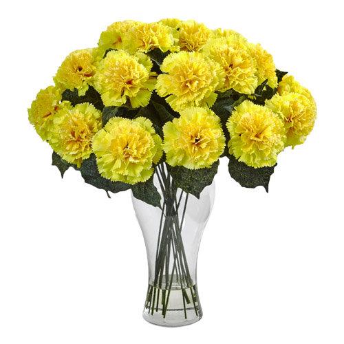 Dazzling Yellow Carnations