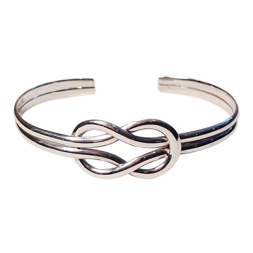 Sterling Silver Double Square Knot