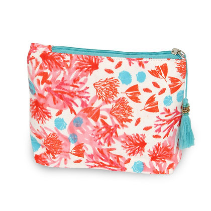 Cosmetic Bag - Coral Print