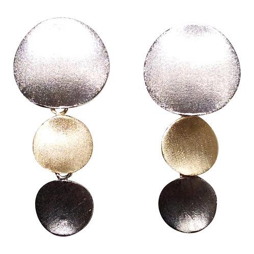 Mixed Triple Brushed Circles