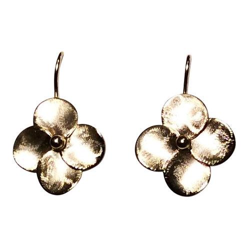 Gold Vermeil Single Flower Drop