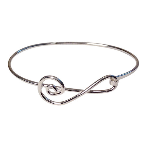 Sterling Silver Clef Note