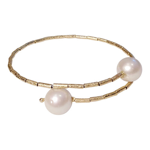 HB 241 P Gold Vermeil Memory Bracelet with Pearl
