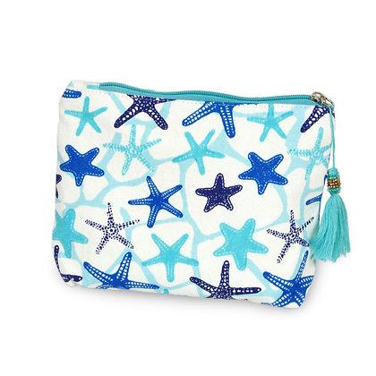 Cosmetic Bag - Starfish Print