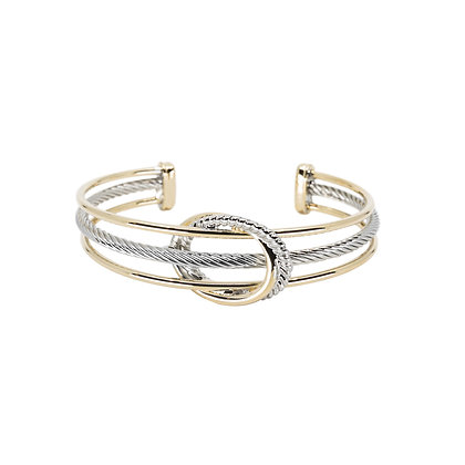 Two Tone Cuff With Oval Detail