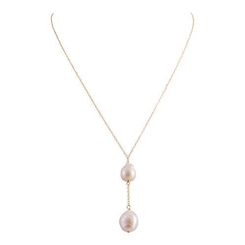 Gold Vermeil Baroque Pearls