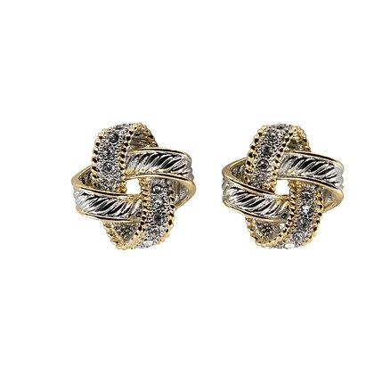Cubic Zirconia Knot Studs