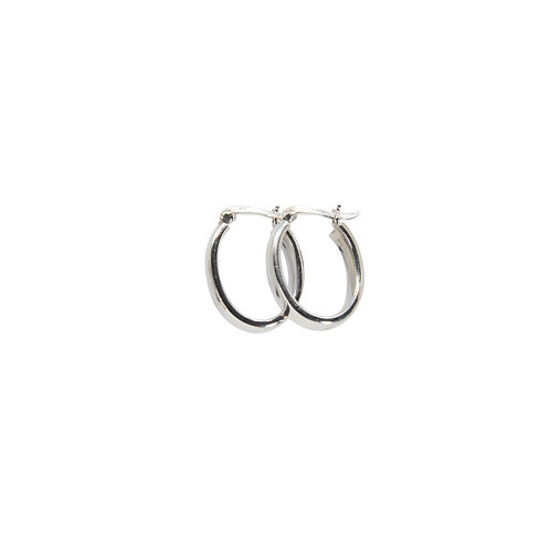 Polished Oval Hoops