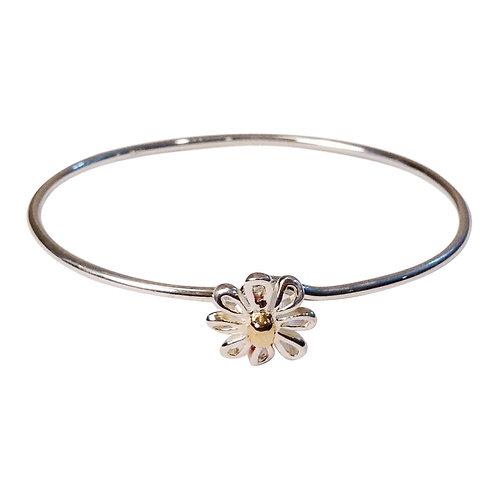 HB 257 GV Sterling Silver Gold Vermeil Flower