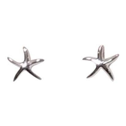 Sterling Starfish Stud