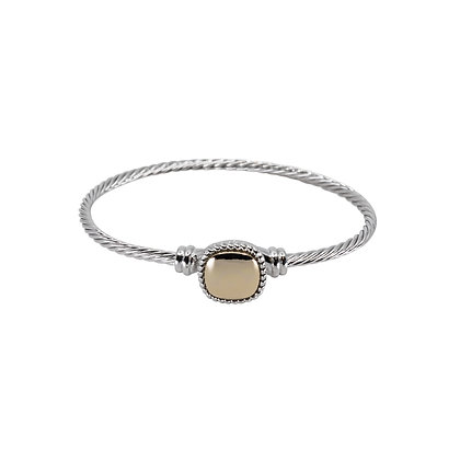 Wire Bracelet With Square Accent