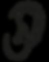image icônique d'une oreille