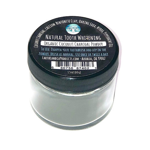 Organic Coconut Charcoal Tooth Whitening Powder