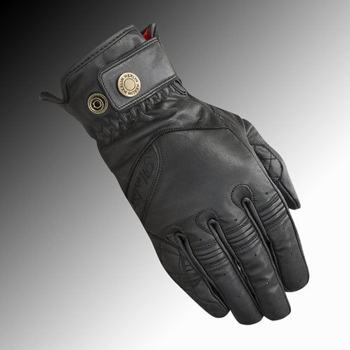 Merlin Heritage Levdale leather black motorcycle gloves