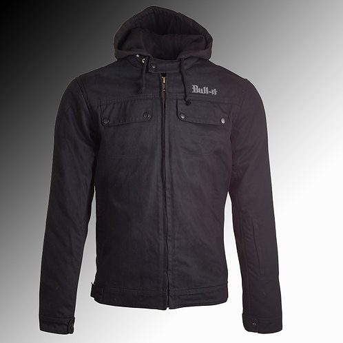 Bull-it Carbon 17 SR6 armoured black motorcycle jacket