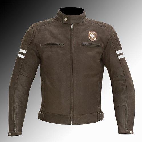 Merlin Heritage Hixon leather armoured brown motorcycle jacket