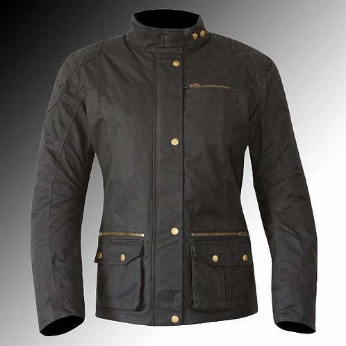 Merlin Heritage Bromley wax armoured black motorcycle jacket