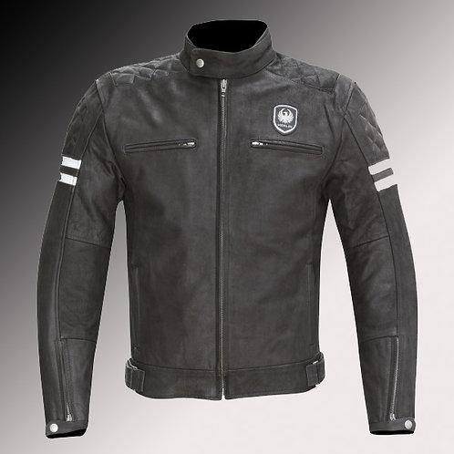 Merlin Heritage Hixon leather armoured black motorcycle jacket
