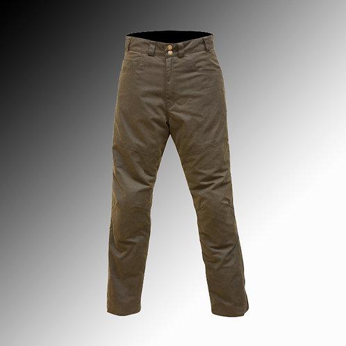 Merlin Heritage Hulme wax armoured waterproof olive brown motorcycle jeans