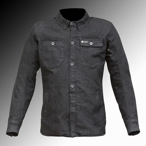 Merlin Street Trenton Kevlar armoured black motorcycle shirt