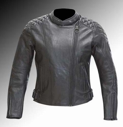 Merlin Heritage Hadley leather armoured black motorcycle jacket