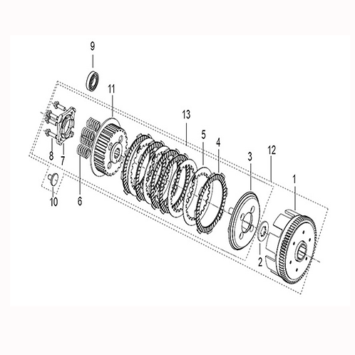 02. Clutch spline washer