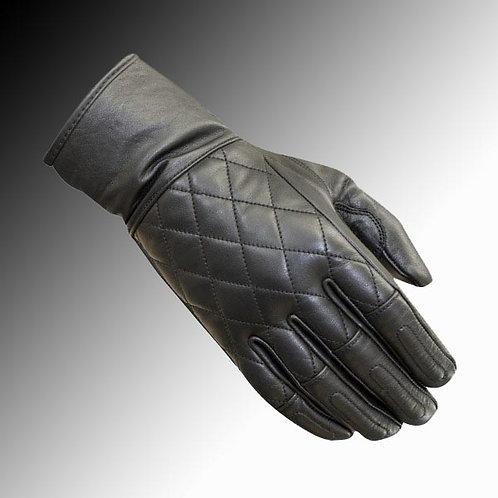 Merlin Heritage Salt leather black motorcycle gloves