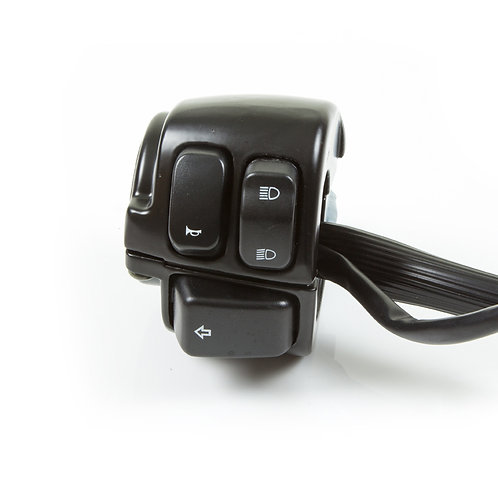 11. Handle bar switch - left hand (push on/off indicators & HAO)