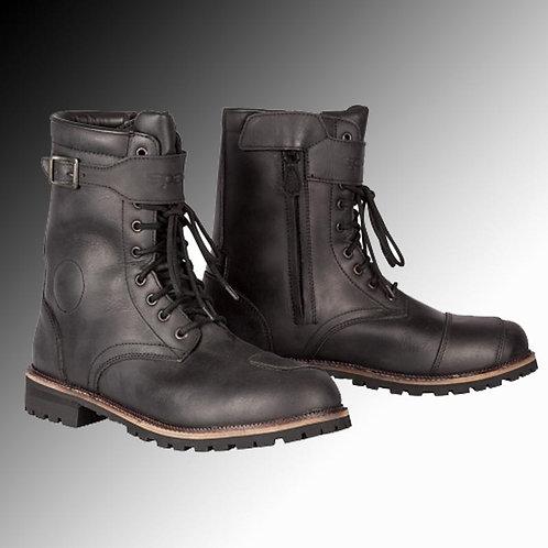 Spada Pilgrim Grande leather black motorcycle boots