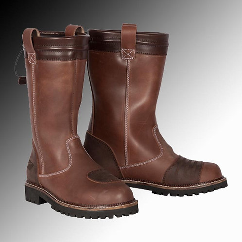 Spada Pallas leather brown motorcycle boots (Women's)