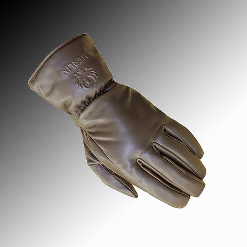 Merlin Heritage Stone leather waterproof brown motorcycle gloves