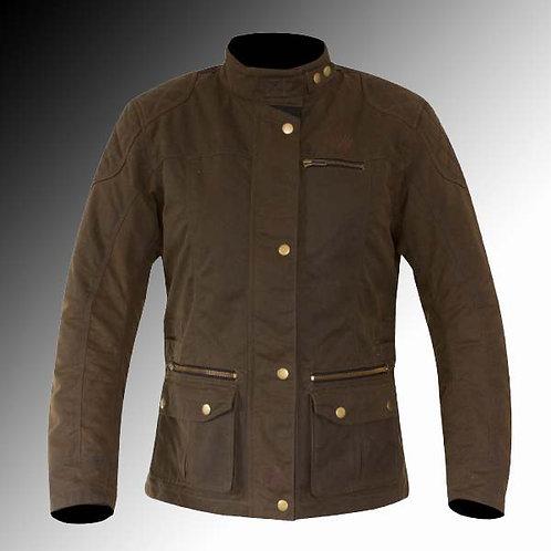 Merlin Heritage Bromley wax armoured olive brown motorcycle jacket