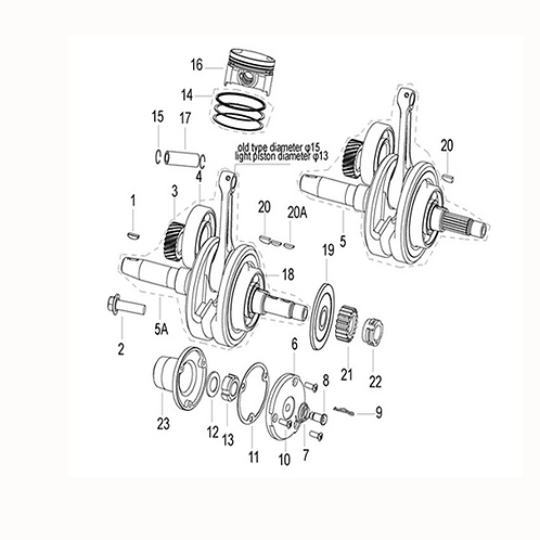 07. Oil filter (centrefugal) relief valve spring