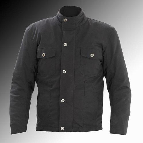 Rayven Fusion armoured black motorcycle jacket