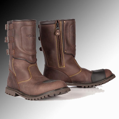Spada Foundry leather brown motorcycle boots