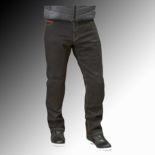 Route One Blake armoured stretch denim black motorcycle jeans